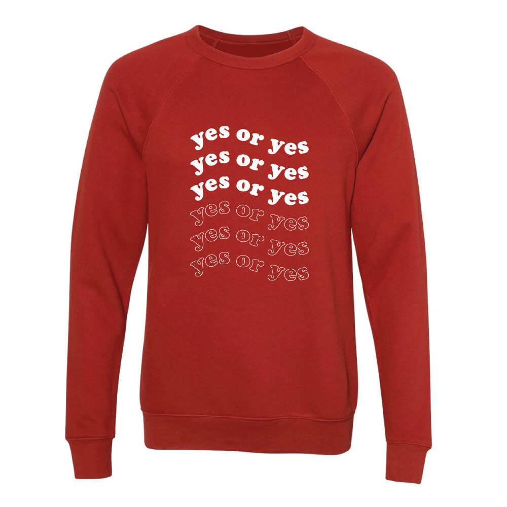 Yes or Yes Brick Sweater